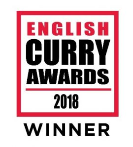 English Curry Awards 2018 OFFICIAL Winner logo badge